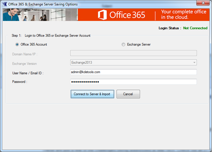 Import Thunderbird to Office365 Account